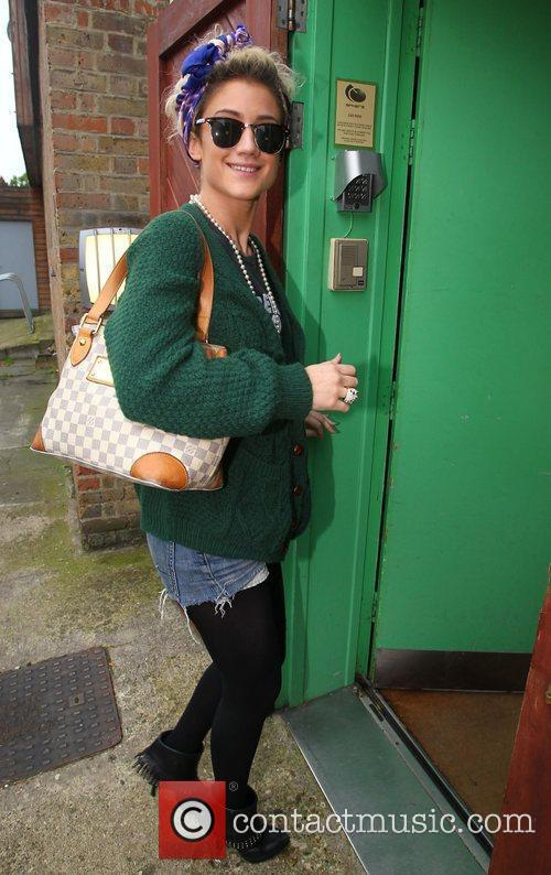 X Factor finalist Katie Waissel arriving at the...