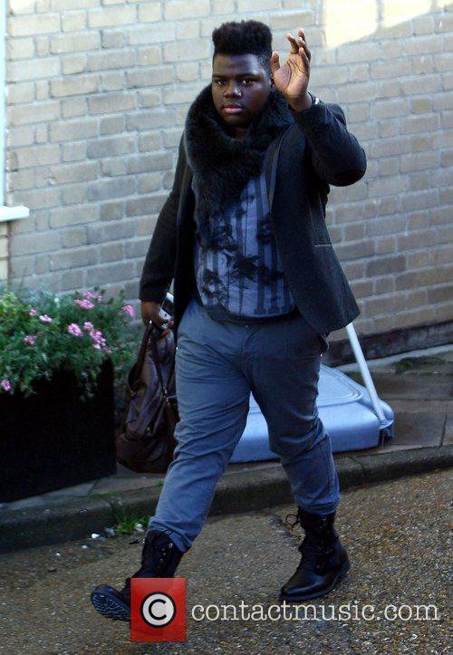 X Factor finalist Paije Richardson arriving at the...