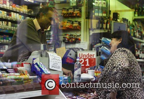 'X Factor' finalist Mary Byrne visits a newsagents...