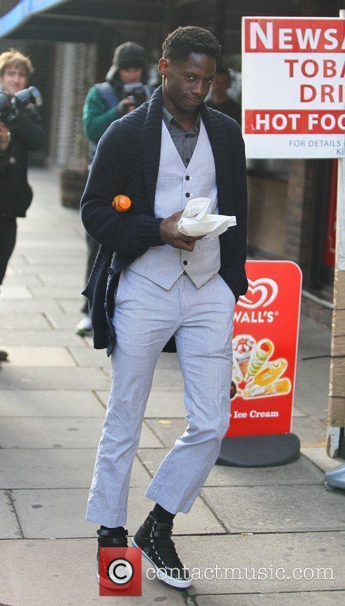 'X Factor' finalist John Adeleye arriving at the...