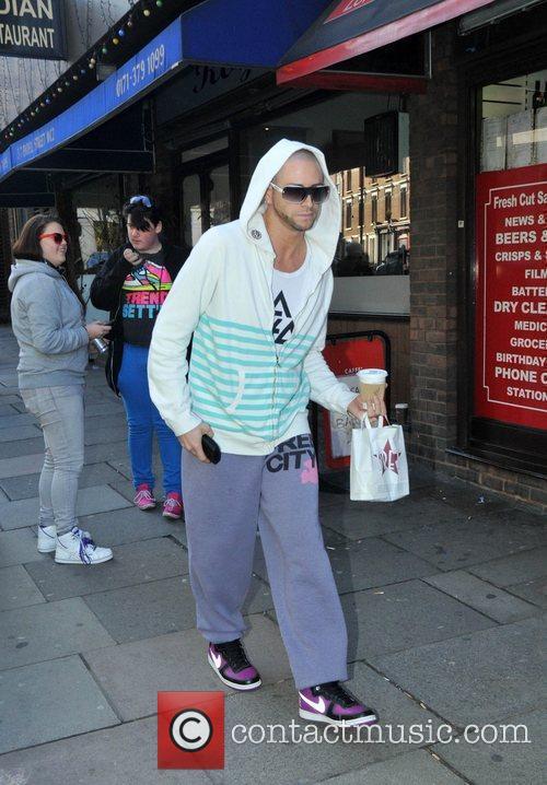 X Factor dance trainer Brian Friedman, arriving at...