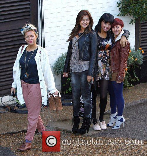 Belle Amie 'The X Factor' contestants arrive at...