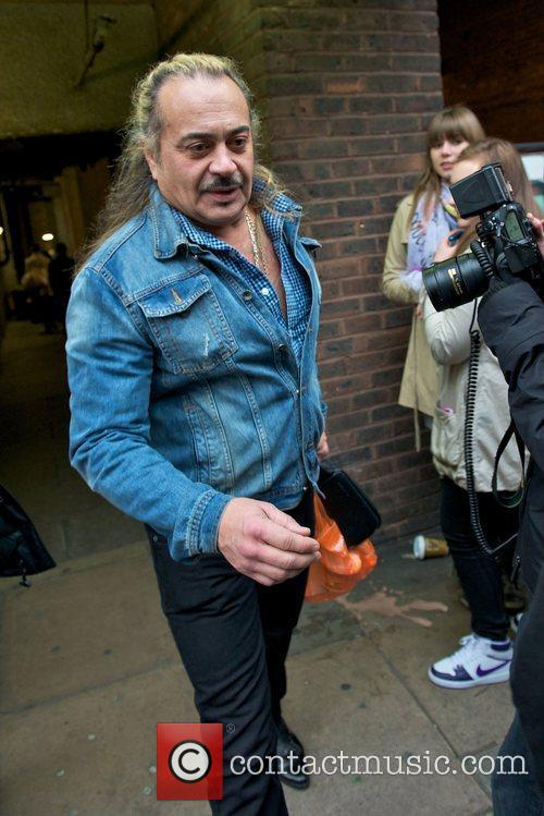 X Factor finalist Wagner Carrilho outside the rehearsal...