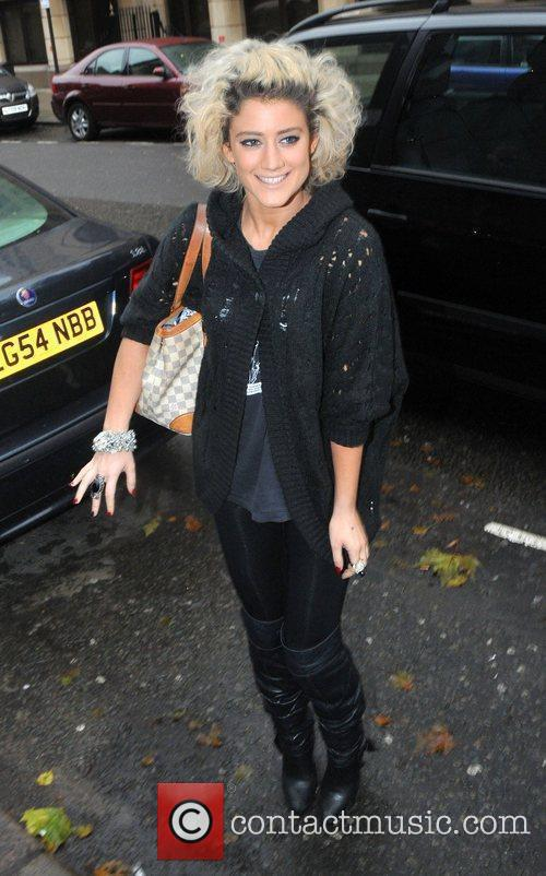 'The X Factor' finalist Katie Waissel is surrounded...