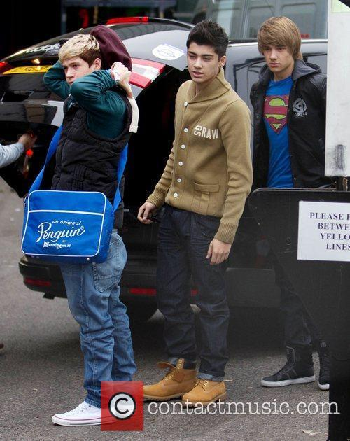 Niall Horan, Zain Malik and Liam Payne from...