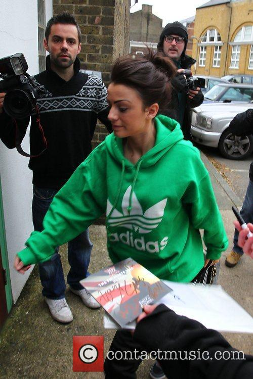 Cher Lloyd X Factor finalists arriving at rehearsals...