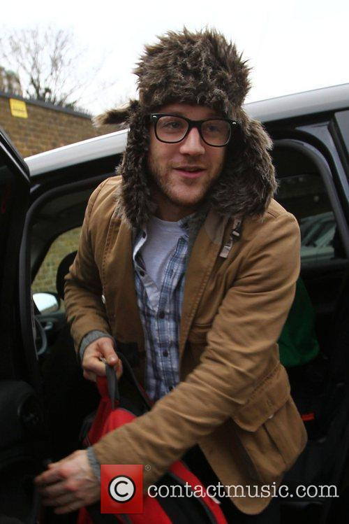 Matt Cardle X Factor finalists arriving at rehearsals...