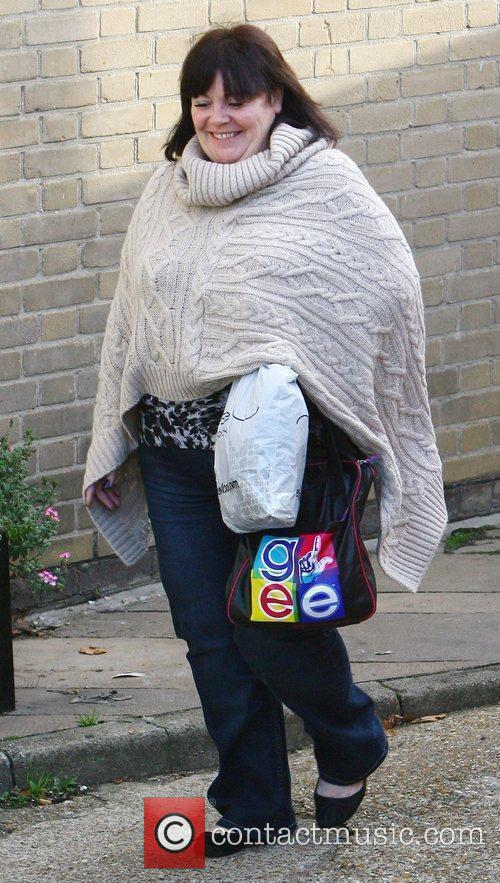 Mary Byrne  arrives at 'The X Factor'...