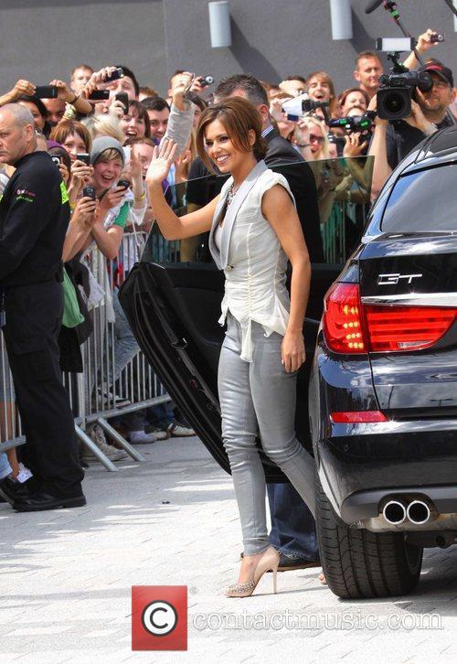 Arrives at 'The X Factor' auditions