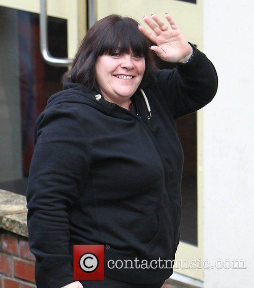 Mary Byrne arrives at 'The X Factor' studios...