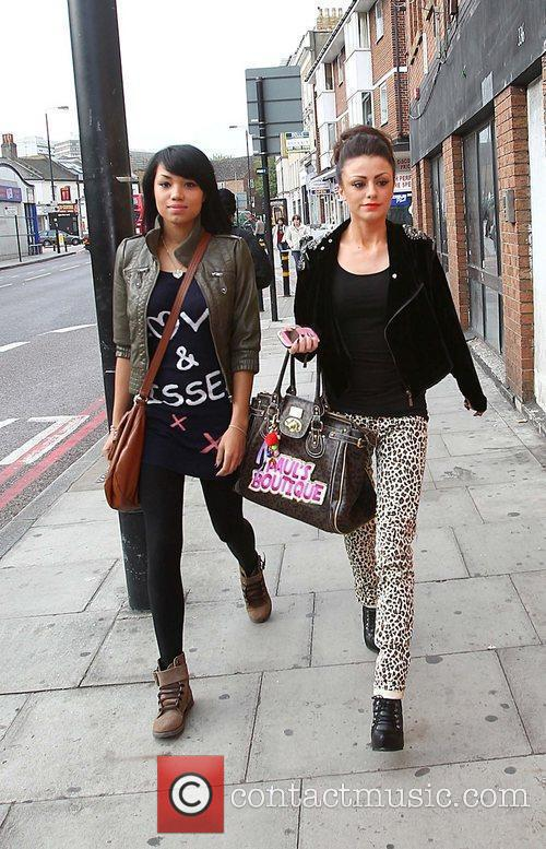 X Factor finalists Cher Lloyd and Esther Campbell...