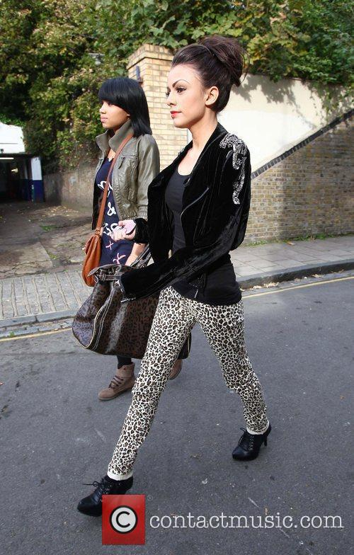 X Factor finalist Cher Lloyd and Esther Campbell...