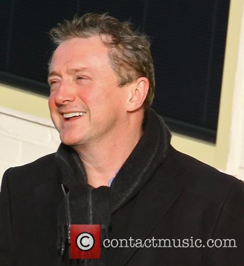 Louis Walsh arriving at 'The X Factor' studios...