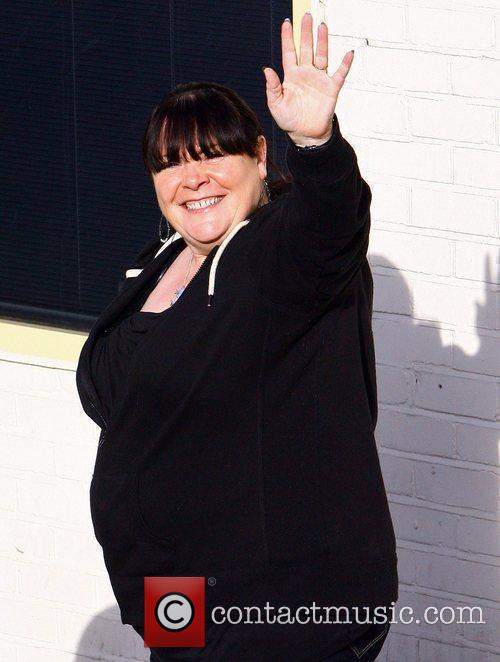 Mary Byrne arriving at 'The X Factor' studios...