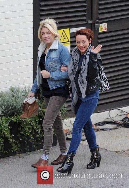X Factor finalists Sophia Wardman and Rebecca Creighton...