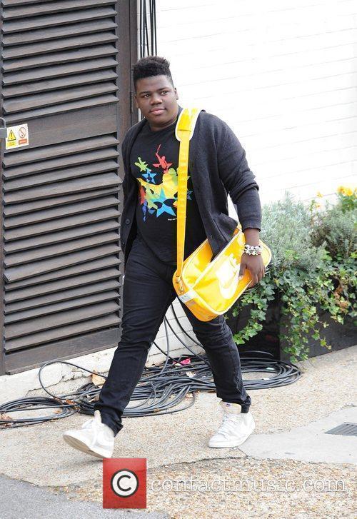 X Factor finalist Paije Richardson arriving at a...