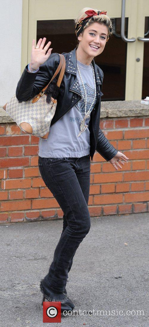 X Factor finalist Katie Waissel arriving at a...