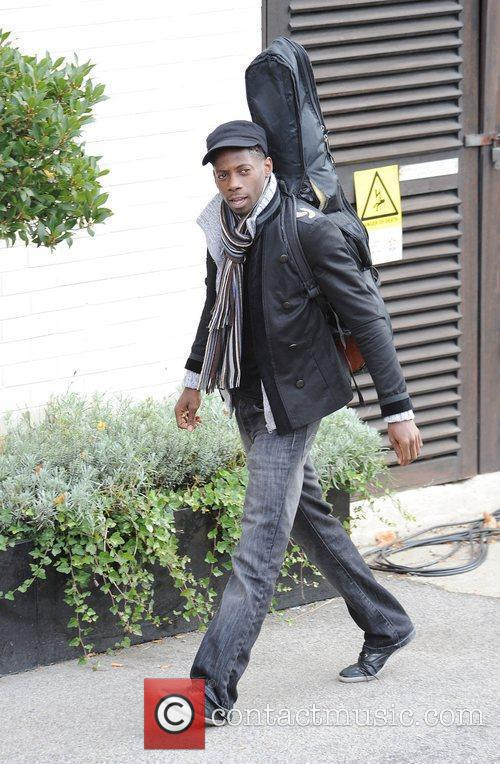 X Factor finalist John Adeleye arriving at a...