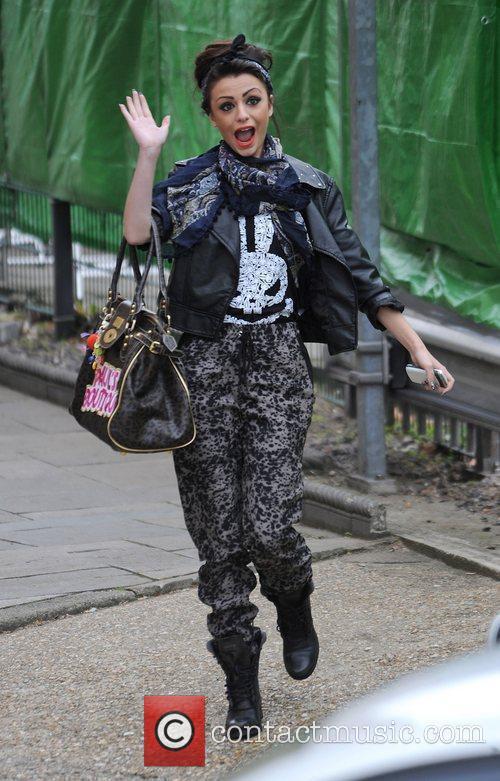 X Factor finalist Cher Lloyd arriving at a...