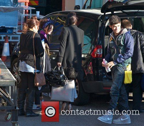 Cher Lloyd, Rebecca Ferguson and Zain Malik from...