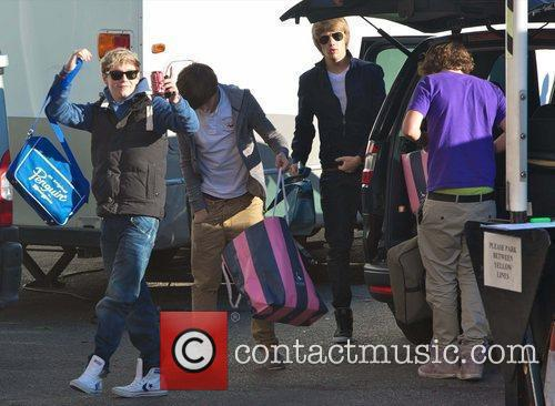 X Factor finalist Niall Horan with band members...