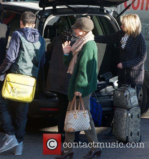Katie Waissel  The X Factor contestants arrive...