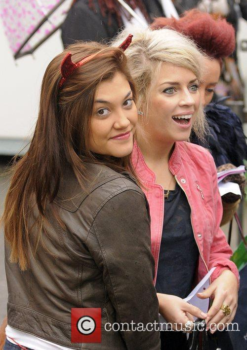 Belle Amie arrive at 'The X Factor' rehearsal...