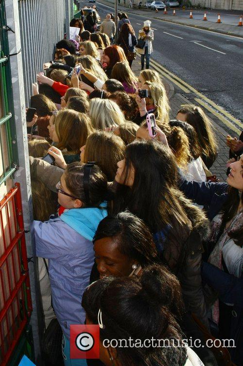 X Factor fans waiting outside the studios...