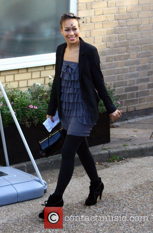 Rebecca Ferguson arrives at 'The X Factor' studios...