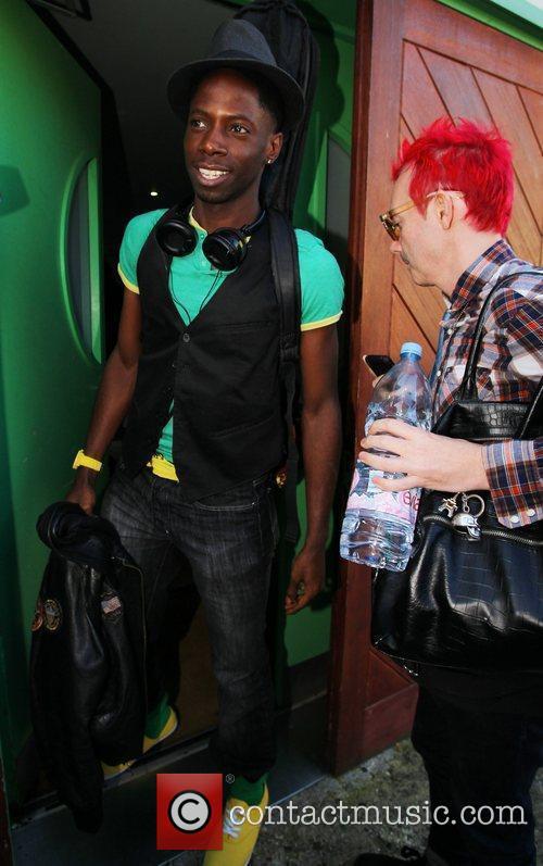 John Adeleye and Storm Lee X Factor contestants...