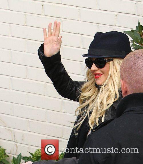 Christina Aguilera arrives at 'The X Factor' studios...
