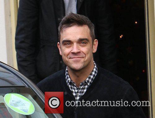Robbie Williams arrives at 'The X Factor' studios...
