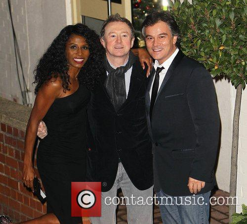 Sinitta, Louis Walsh leave the studio after 'The...