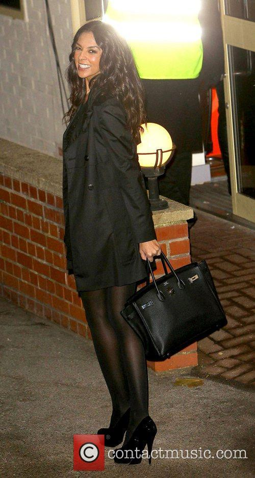 Terri Seymour leaves the studio after 'The X...