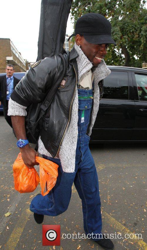 X Factor finalist John Adeleye  arriving at...