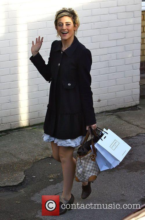 Katie Waissel arriving at 'The X Factor' studios...