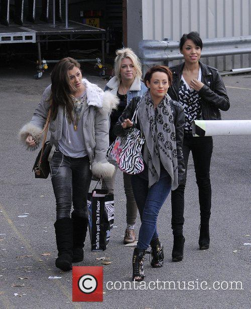 X Factor finalists Geneva Lane, Sophia Wardman, Rebecca...
