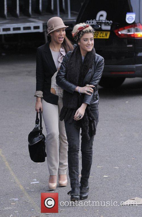 X Factor finalists Rebecca Ferguson and Katie Waissel...