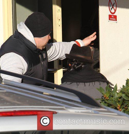 Nicole Scherzinger arrives at 'The X Factor' studios...
