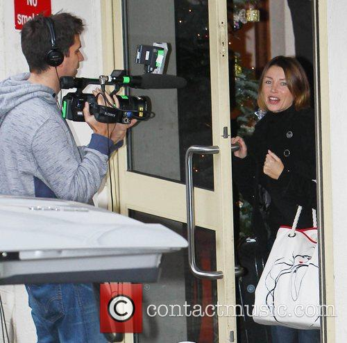 Dannii Minogue arrives at 'The X Factor' studios...
