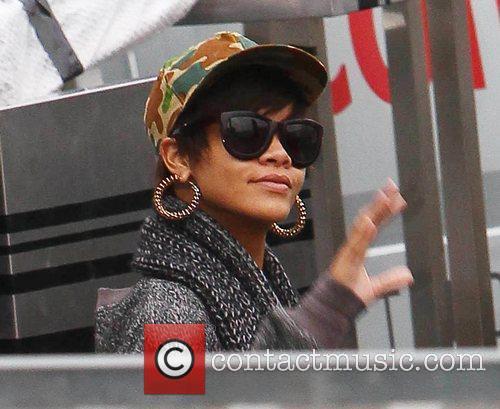 Rihanna arrives at 'The X Factor' studios ahead...