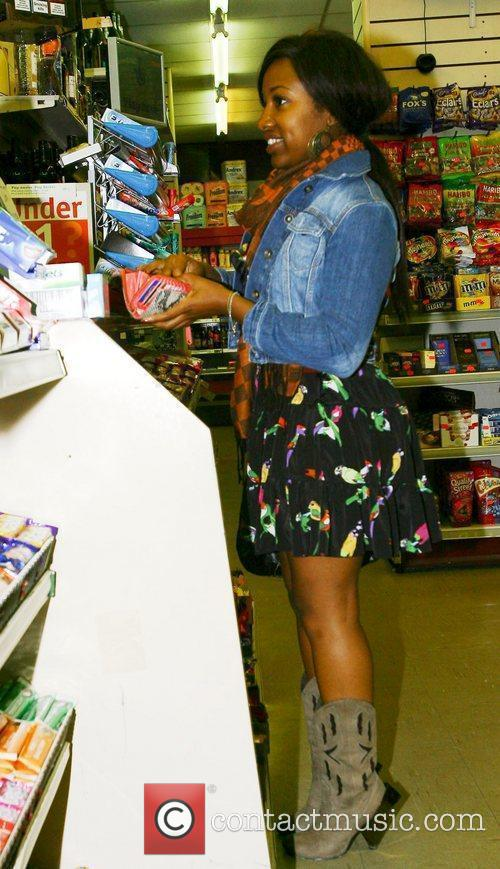 X Factor contestant Treyc Cohen buys a packet...