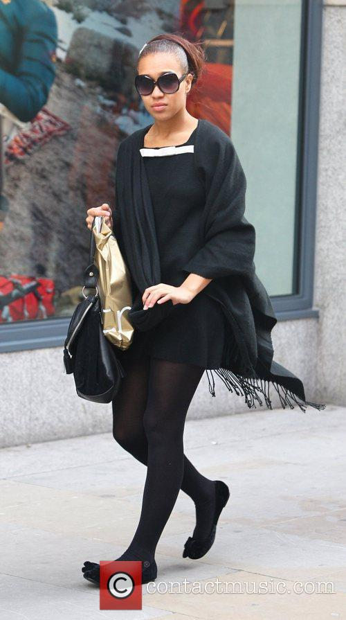 X Factor contestant Rebecca Ferguson out shopping in...