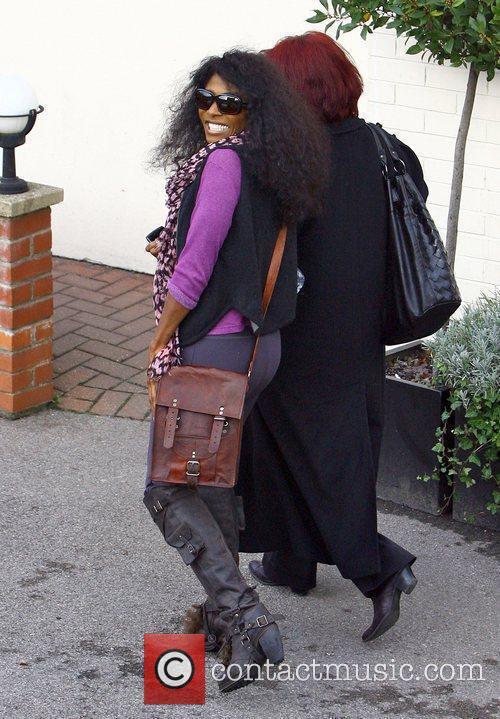 Sinitta arriving at 'The X Factor' studios London,...