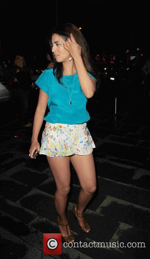 Konnie Huq returns to her Hotel after the...