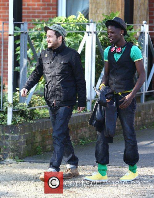 X Factor contestant Matt Cardle and John Adeleye...