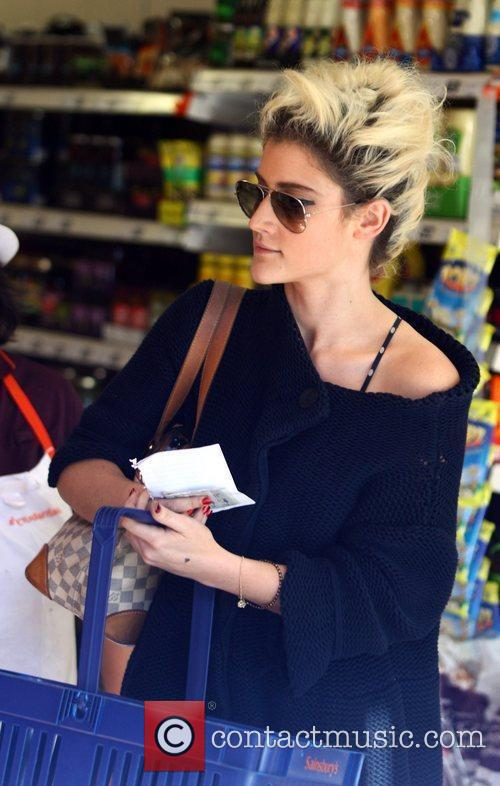 X Factor contestant Katie Waissel at the supermarket...