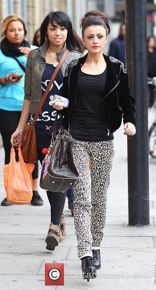 'X Factor' finalists Esther Campbell and Cher Lloyd...