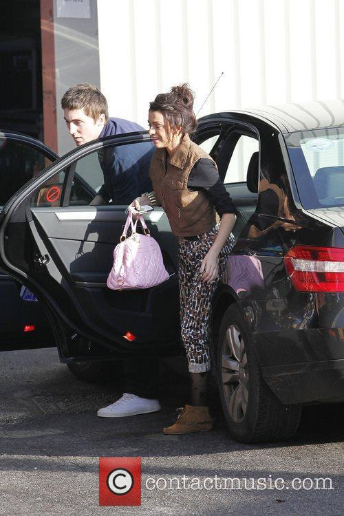 Cher Lloyd arriving at 'The X Factor' studios...