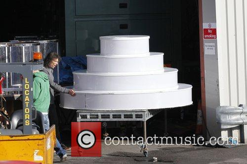 A stage prop is wheeled into the X...
